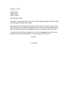 Church Leadership Resignation Letter