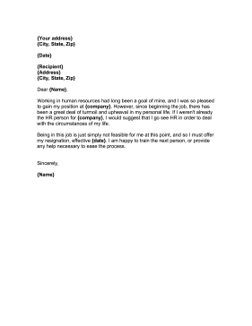How To Address Resignation Letter To Human Resources