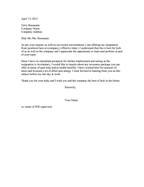 Resignation Letter Asking For Severance from cdn.resignationletters.biz