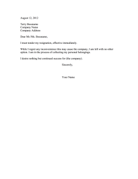 Resignation letter with no notice resignation letter with no notice resignation letter expocarfo