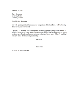 Resignation Letter with Apology Resignation Letter