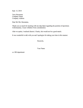 Withdraw From Consideration Resignation Letter